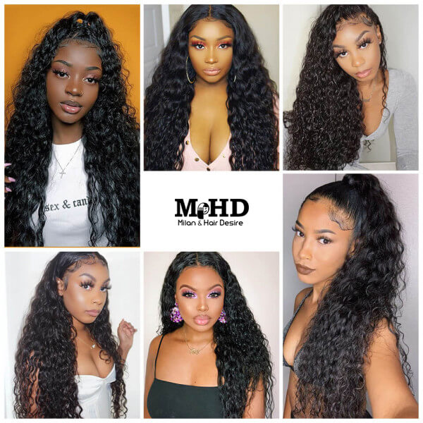 Curly Human Hair Full Lace Wig - MILAN HAIR DESIRE