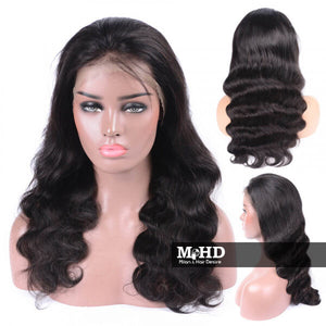 Body Wave Human Hair Full Lace Wig