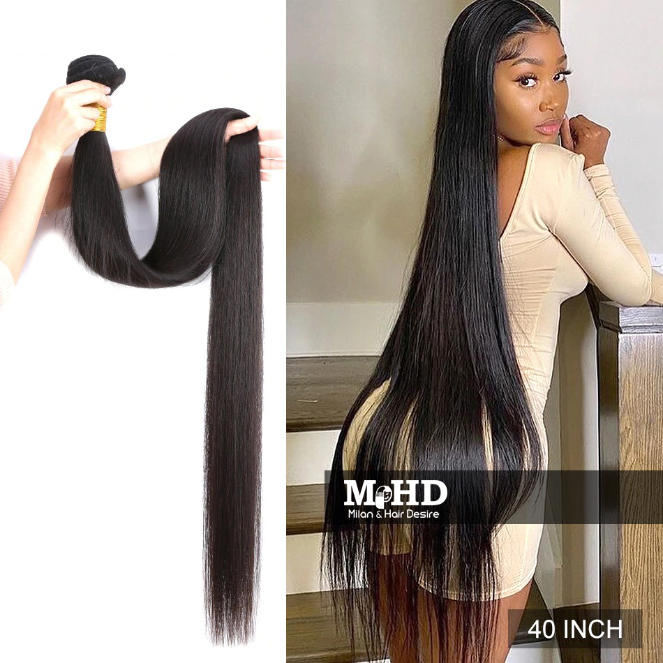 Inches! 40 Inches Long Natural Black Hair - MILAN HAIR DESIRE