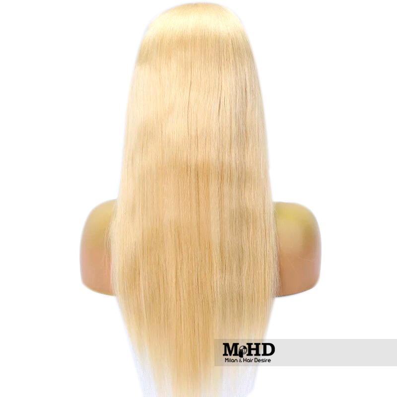 613 Premium Blonde Straight Human Hair Full Lace Wig