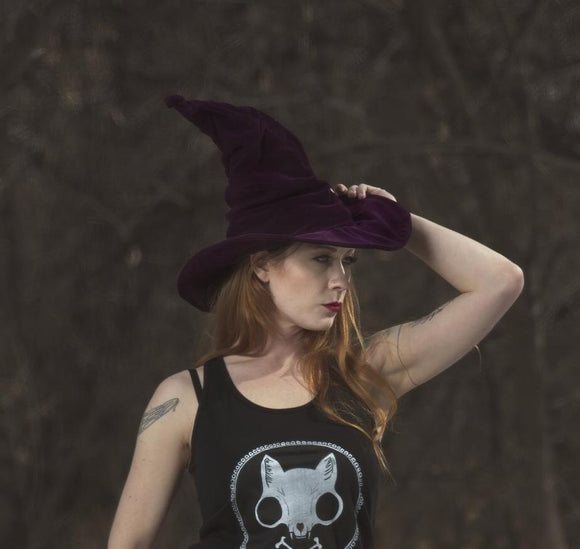 Royal Purple Tall Large Witch Hat