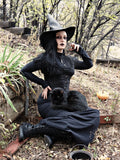 Black Leather Witch Hat