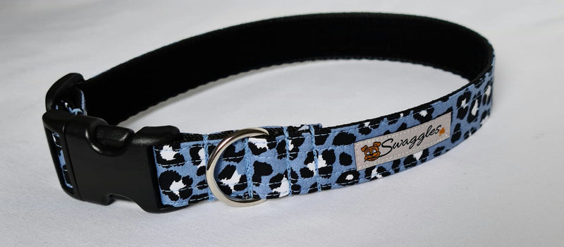 Blue Leopard Print Collar