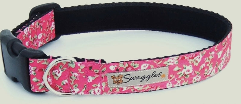 Cerise Pink Floral Ripstop Collar