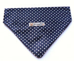 Classic Navy and White Spot Bandana