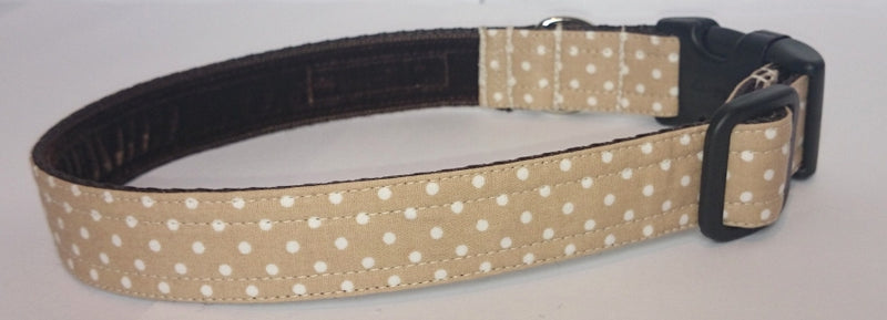 Cream and White Spot Collar