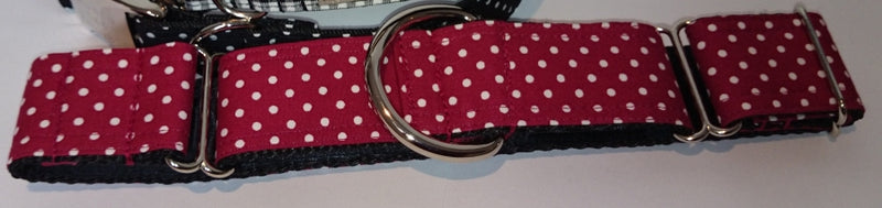 Deep Red Small Spot Martingale Collar
