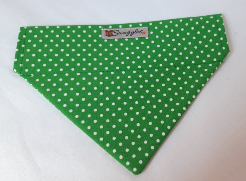 Emerald Green & White Spot Bandana