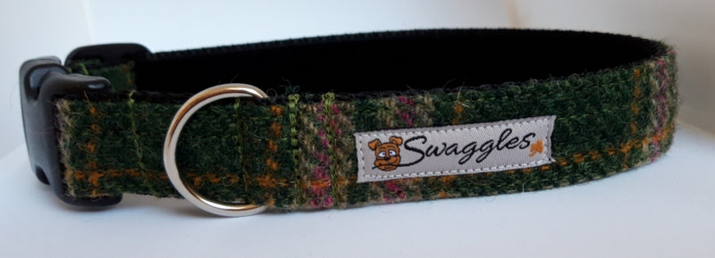 Green & Pink Tweed Collar