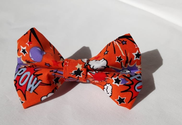 Orange Smash Bang Bow Tie