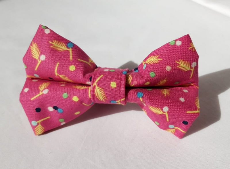 Pink & Yellow Arrows Bow Tie