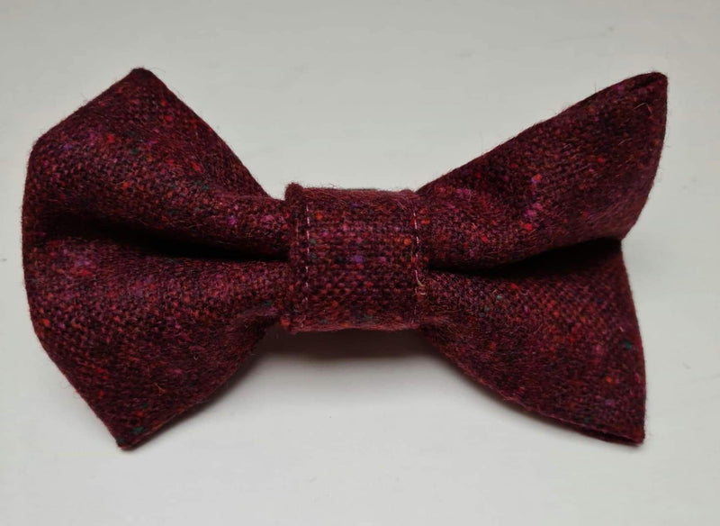 Donegal Burgundy Flecked Tweed Bow Tie