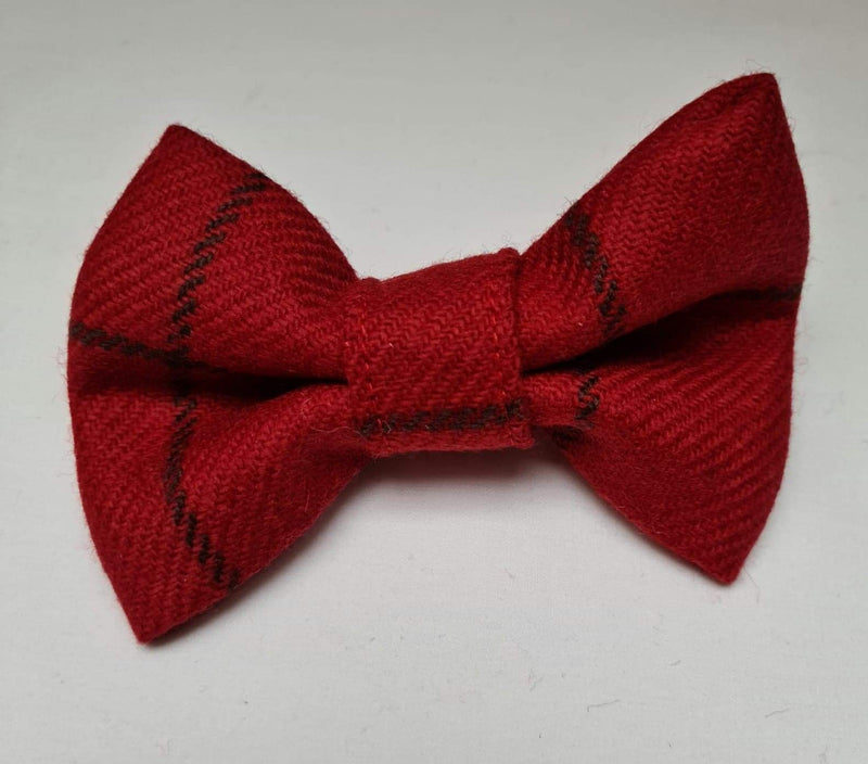 Donegal Red and Black Check Bow Tie