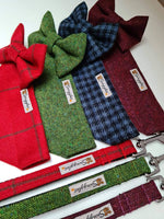 Donegal Red & Black Check Tweed Lead