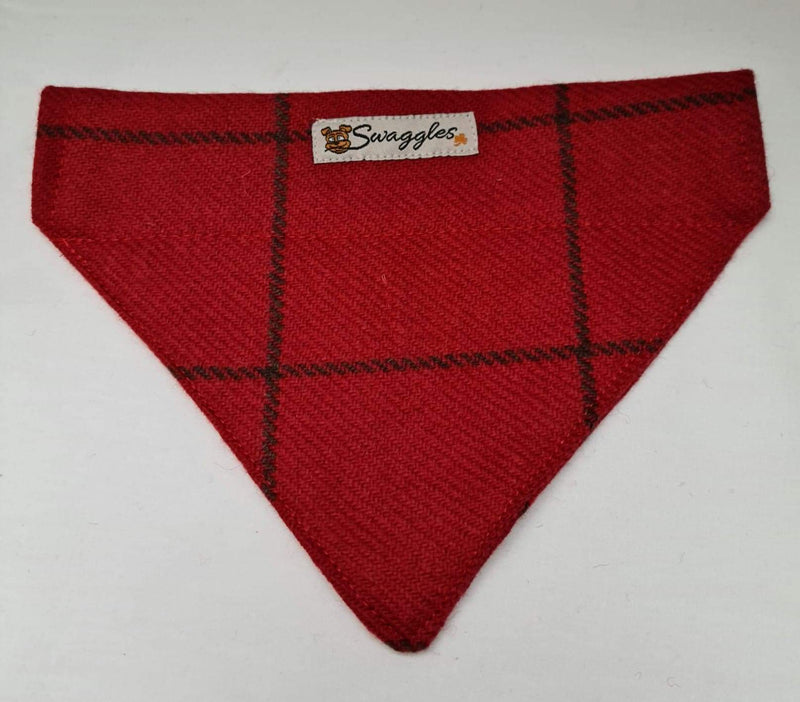 Donegal Red Check Tweed Bandana