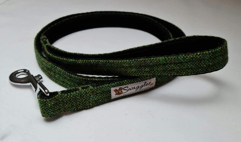 Donegal Green Flecked Tweed Lead