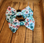 Blue and Pink Scandi Floral Bow Tie