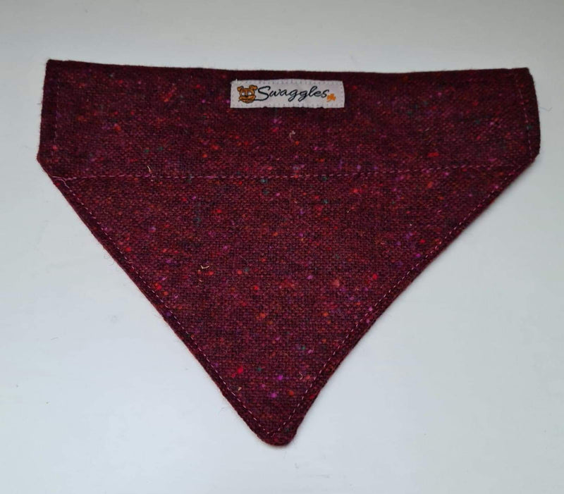 Donegal Burgundy Flecked Tweed Bandana