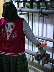 Raven Skull Collegejacke Slim Fit