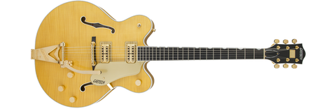 Buy Gretsch Players Edition Country Gentleman® Hollow Body with String-Thru Bigsby® and Flame Maple, Amber Stain Online