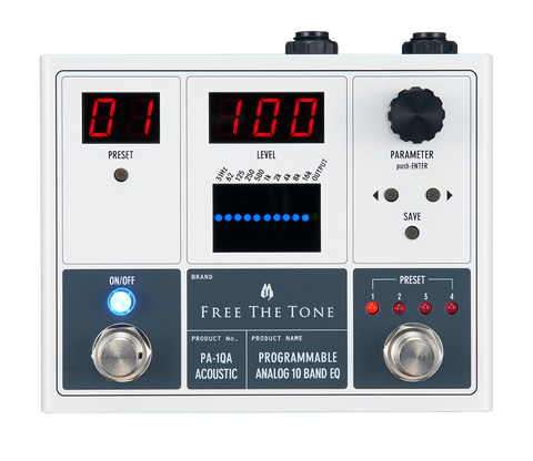 Buy Free The Tone PA-1QA Acoustic Guitar PROGRAMMABLE ANALOG 10 BAND EQ Online