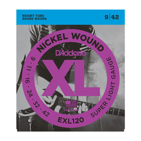 Buy D'Addario EXL120 Nickel Wound Electric Guitar Strings, Super Light, 9-42 Buy
