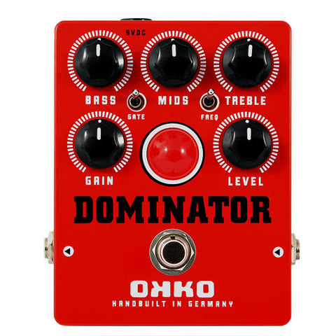 Buy OKKO Pedals Red Dominator Distortion Online