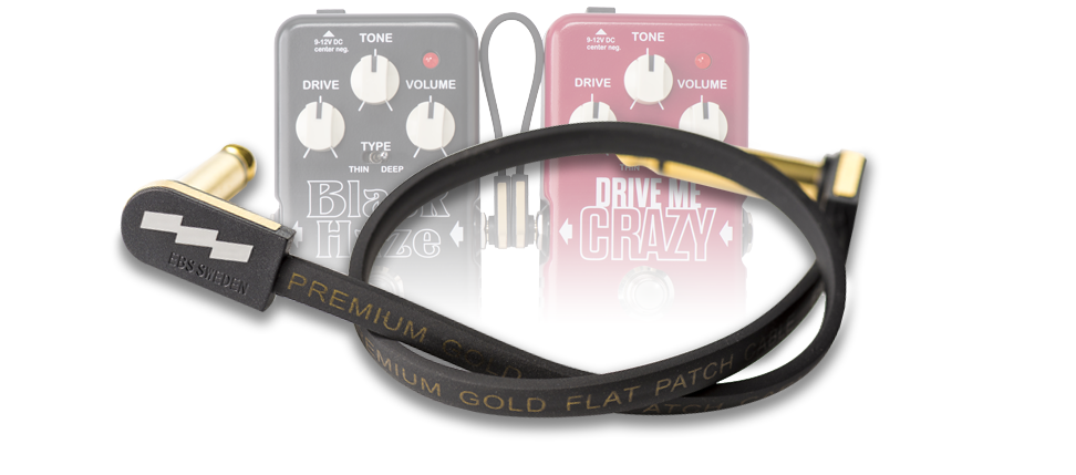 EBS Effects Premium Gold Flat Patch Cables