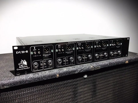 Crucial Audio Vacuum Tube Direct Recording Interface: The DUB-5