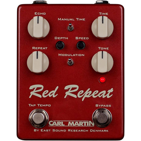 Carl Martin Vintage Series Red Repeat V2 Delay with Tap tempo