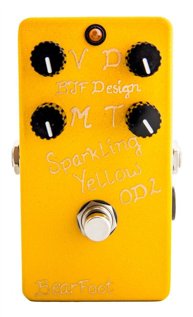 BearFoot FX Sparkling Yellow Overdrive Version 3