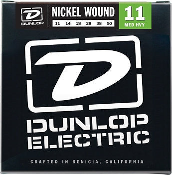 Dunlop Nickel Wound Medium Heavy Gauge 11's Set of 3