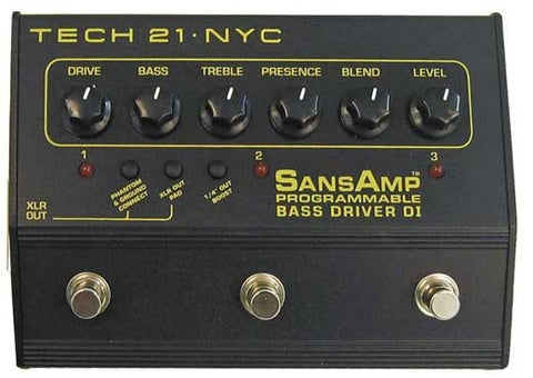 Buy Tech 21 Sansamp Programmable Bass Driver DI Online
