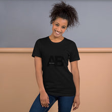 Load image into Gallery viewer, Artikle Blak AB Logo Black with Artikle Blak Short-Sleeve Unisex T-Shirt