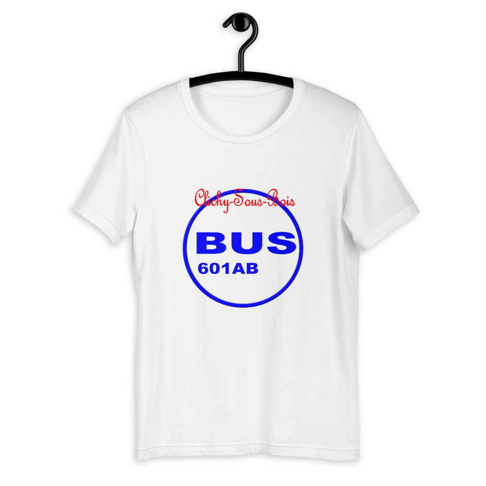 Clichy Sous Bois  Bus 601 B by Artikle Blak Short-Sleeve Unisex T-Shirt
