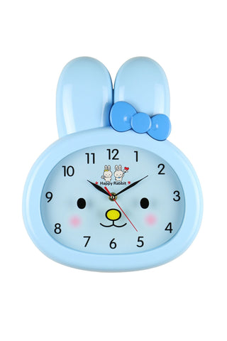 14X12 BLUE RABBIT WALL CLOCK