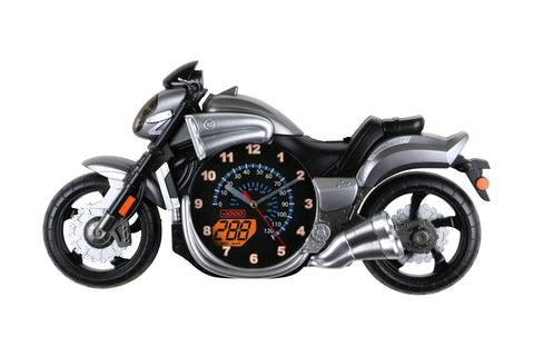23X12 GRAY BIKE WALL CLOCK