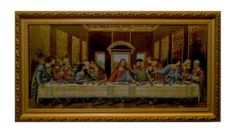 27X15 LAST SUPPER IN GOLD FRAME