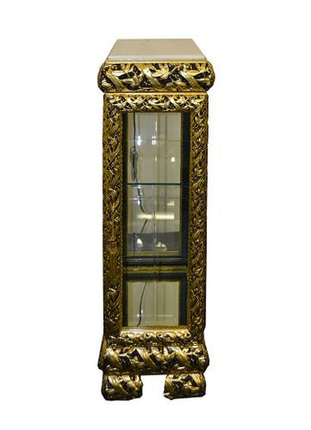 14X14X39 GOLD/BLK CABINET W/ LIGHT