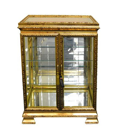 27X14X36 ANT. GOLD CABINET