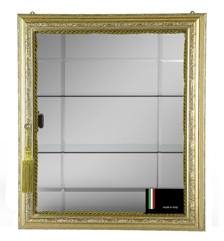 19.5X16.5X4 GOLD WALL CABINET