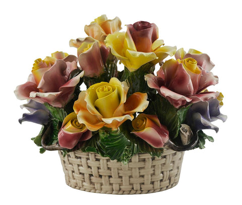 Capodimonte Oval Flower Basket
