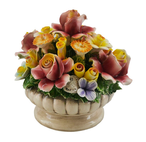 "7"" ROUND MULTI-FLOWER BASKET"