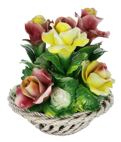 Capodimonte Round Rose Basket Bouquet