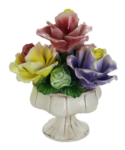 Capodimonte 4 Roses on Stand