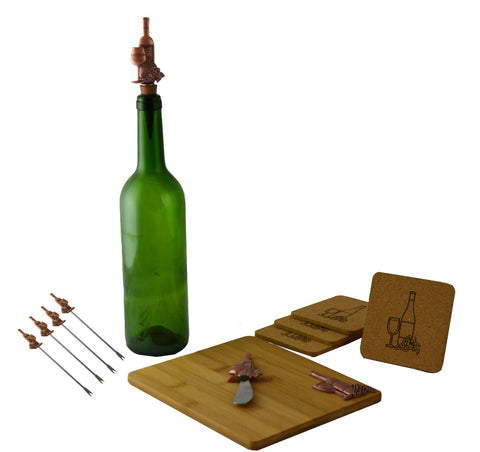 11pc Wine and Cheese Board Set