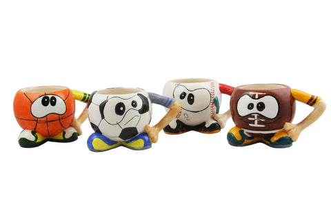 4-PC SET OF MUGS, BALLS