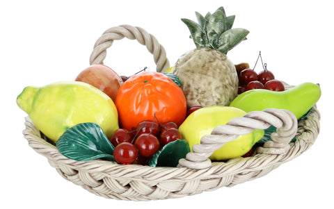 16X14 OVAL FRUIT BASKET W/ HANDLES