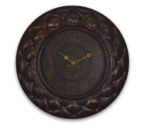 "20"" ROUND BROWN WALL CLOCK"