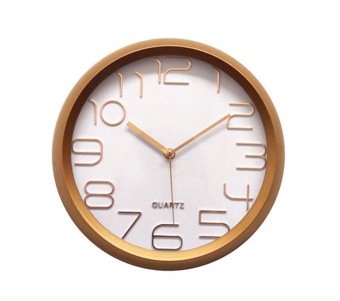 "12"" ROUND ROSE GOLD WALL CLOCK"